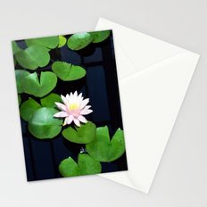 Lily pads and flower Stationery Cards