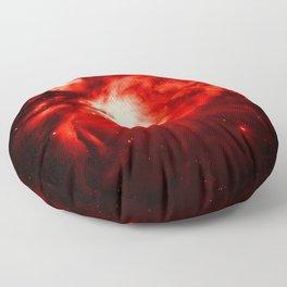Orion NeBULA : Red Floor Pillow