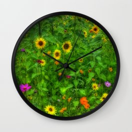 Wildflower Field Wall Clock