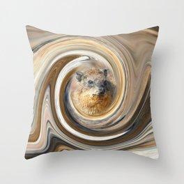 African Rock Hyrax Throw Pillow