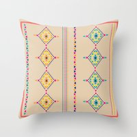 ethnic Throw Pillows featuring Ethnic by ShivaR