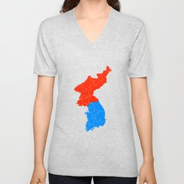 Korean Map - Patriot Unisex V-Neck