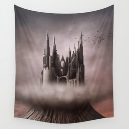 Gothic Castle Ruins Wall Tapestry