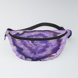 Purple Agate Geode Fanny Pack