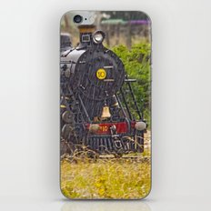 Rain On A Train iPhone Skin