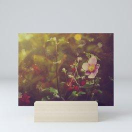 Textured Anemone (Cool Colors) Mini Art Print
