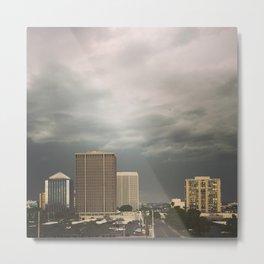 Stormy evening in Phoenix Arizona Metal Print