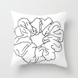 white scrunchie Throw Pillow
