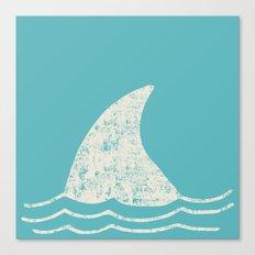 Beach Series Aqua- Shark Animal in the deep See Canvas Print
