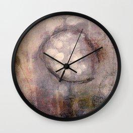 Lost Eye - Mixed Media Acrylic Abstract Modern Art, 2009 Wall Clock