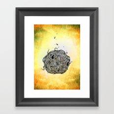 Sr Coprofago - Beetle shit Framed Art Print