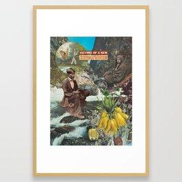 A strange winter Framed Art Print