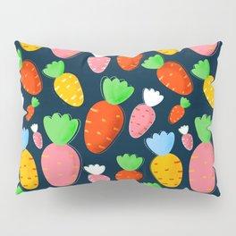 Carrots not only for bunnies - seamless pattern Pillow Sham