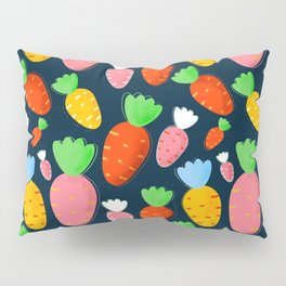 Carrots not only for bunnies - seamless pattern Pillow Sham