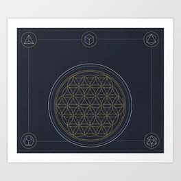 Flower Of Life Collective Art Print