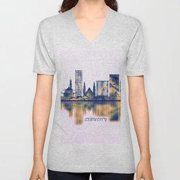 Cebu City Skyline Unisex V-Neck