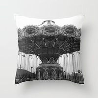 neverland Throw Pillows featuring Neverland by Zooey Petunia