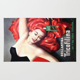 Vintage Brillantina Tricofilina Rug