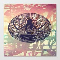 psych Canvas Prints featuring Psych Trap by ArtAngel
