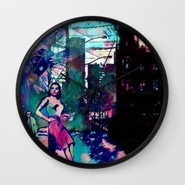 Dame From Buxom Street Wall Clock
