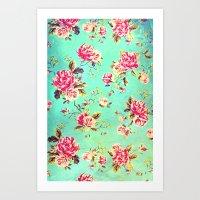 Vintage Flowers XLIII - for iphone Art Print