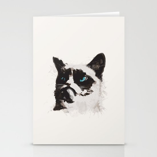 Cat that's Grumpy Stationery Cards