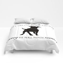 Love is a pit bull No. 8 Comforters
