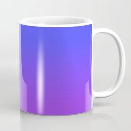 Neon Purple and Bright Neon Blue Ombré Shade Color Fade Coffee Mug
