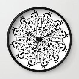 Musical mandala Wall Clock