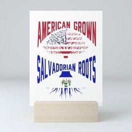 American Salvadorian Roots USA El Salvador Flag Mini Art Print