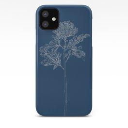 Chrysanthemum Blueprint iPhone Case