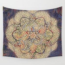 Gold Morocco Lace Mandala Wall Tapestry