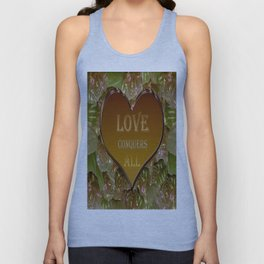 Love Conquers All Gold Flora Unisex Tank Top