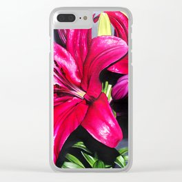 Bruised Ornament Clear iPhone Case