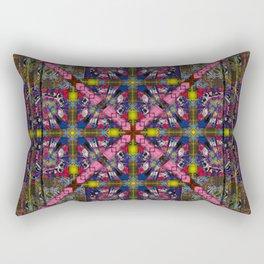 296 yellow, pink , blue burgundy Rectangular Pillow