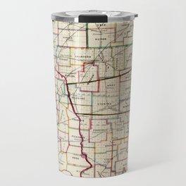 Vintage Map of Ohio (1866) Travel Mug