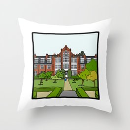 Cambridge Struggles: Newnham College Throw Pillow