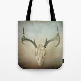 Skull And Antlers Tote Bag