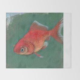 Goldfish #3 Throw Blanket