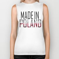 poland Biker Tanks featuring Made In Poland by VirgoSpice