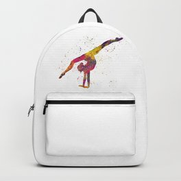 Rhythmic gymnastics competition in watercolor 04 Backpack