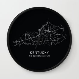 Kentucky State Road Map Wall Clock