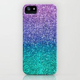 Lavender Purple & Teal Glitter iPhone Case