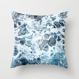 Ocean Mandala - My Wild Heart Throw Pillow
