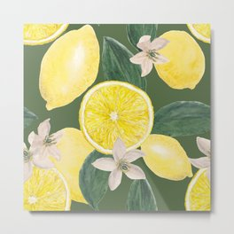 Lemon's pattern Metal Print