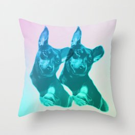 Ava dreams of pastel friends Throw Pillow