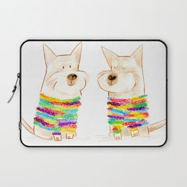 westie besties Laptop Sleeve