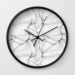 Wavy Line Art, Wavy Linear Pattern Wall Clock