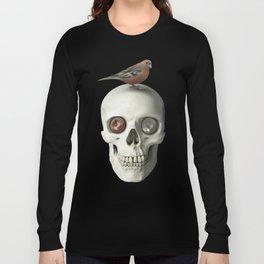 Skull & bird, watercolor Long Sleeve T-shirt