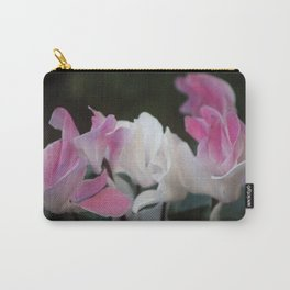 Pastel Persian Cyclamen Flowers Carry-All Pouch